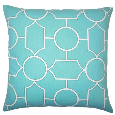 Leaston Hecate Geometric Floor Pillow Color: Turquoise