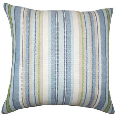 Woodland Striped Floor Pillow Color: Blue
