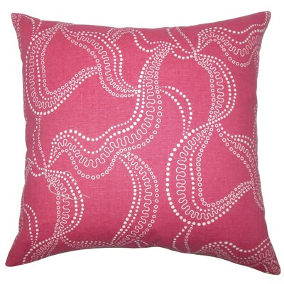 Cristopher Graphic Floor Pillow Color: Pink