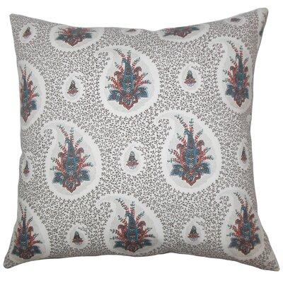 Bruckdale Floral Floor Pillow Color: Blue/Red