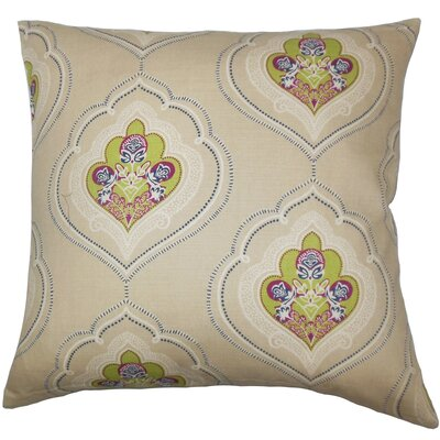 Beauford Floral Floor Pillow Color: Green