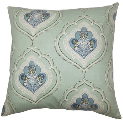 Beauford Floral Floor Pillow Color: Sea Green