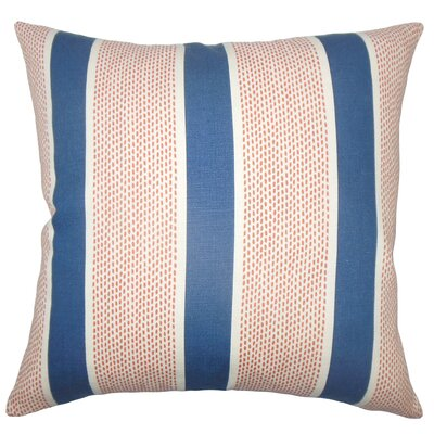 Hein Striped Floor Pillow Color: Sapphire