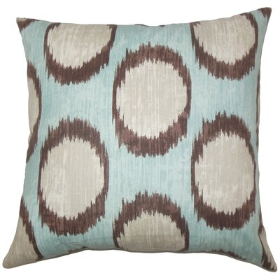 Heaton Ikat Floor Pillow Color: Turquoise