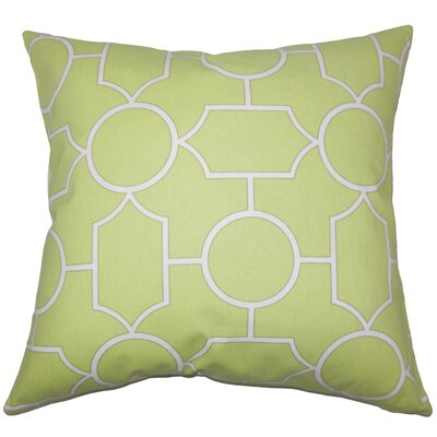 Hecate Geometric Floor Pillow Color: Peridot