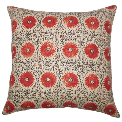 Castlethorpe Floral Floor Pillow Color: Spice