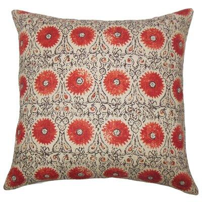 Castlethorpe Floral Floor Pillow Color: Spice