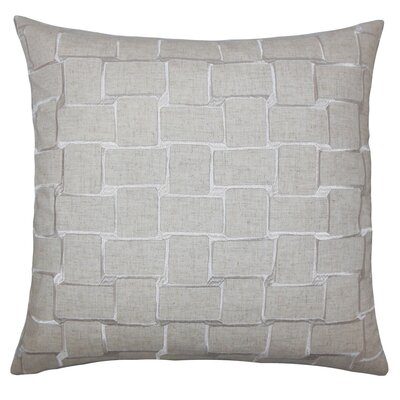 Fabian Geometric Floor Pillow Color: Natural