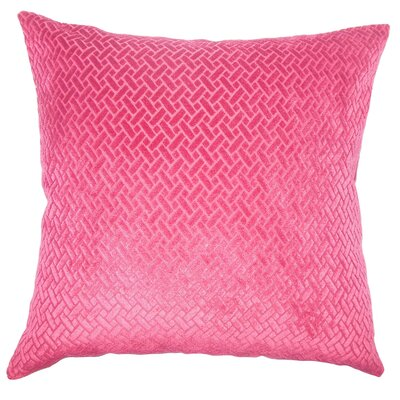 Acuna Solid Floor Pillow Color: Berry