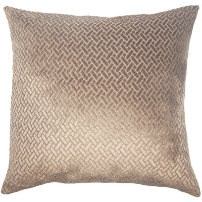 Acuna Solid Floor Pillow Color: Dark Brown