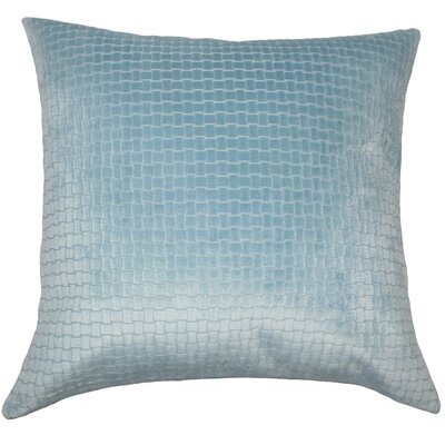 Abrahams Solid Floor Pillow Color: Light Blue