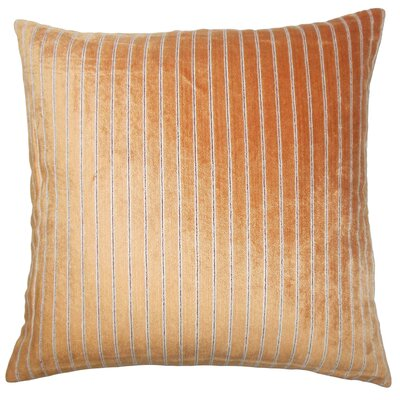 Ardley Striped Floor Pillow Color: Melon