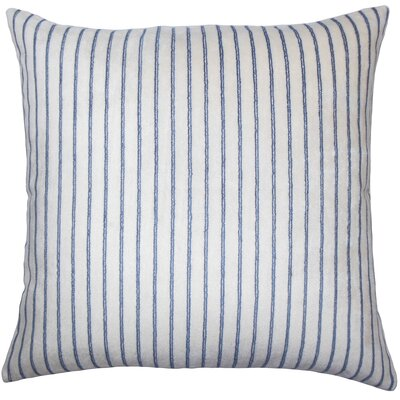 Ardley Striped Floor Pillow Color: Blue