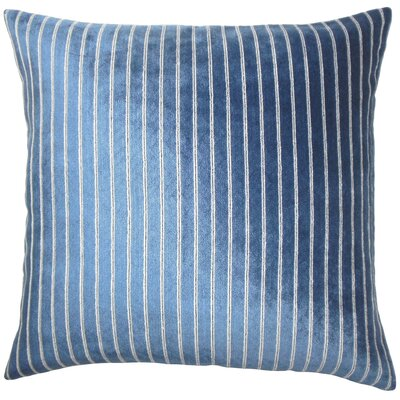 Ardley Striped Floor Pillow Color: Navy