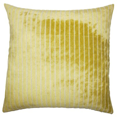 Ardley Striped Floor Pillow Color: Peridot