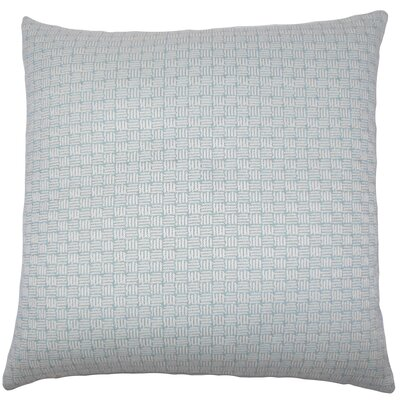Brasel Geometric Floor Pillow Color: Aqua