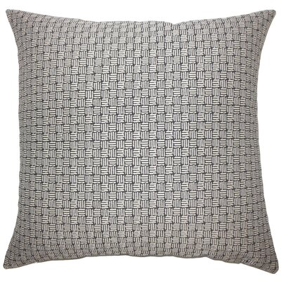 Brasel Geometric Floor Pillow Color: Black/White