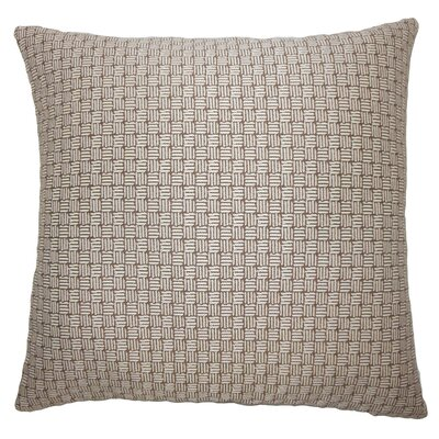 Brasel Geometric Floor Pillow Color: Brown