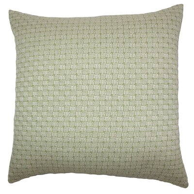 Brasel Geometric Floor Pillow Color: Green
