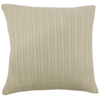 Bernelle Knit Floor Pillow Color: Natural