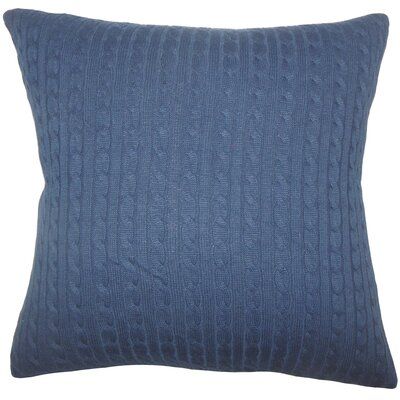 Bernelle Knit Floor Pillow Color: Navy