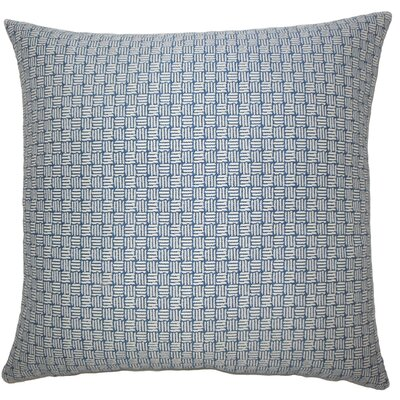 Brasel Geometric Floor Pillow Color: Navy