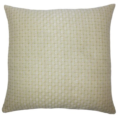Brasel Geometric Floor Pillow Color: Peridot