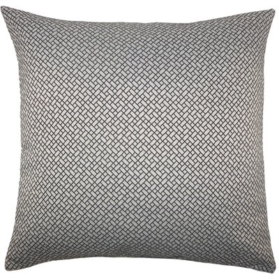 Hartsell Geometric Floor Pillow Color: Black/White