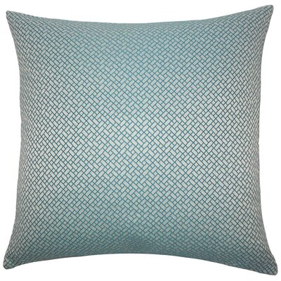 Hartsell Geometric Floor Pillow Color: Teal