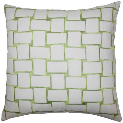 Hartt Geometric Floor Pillow Color: Green