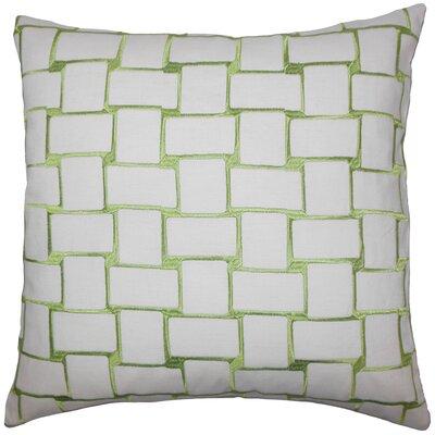 Hartt Geometric Floor Pillow Color: Green