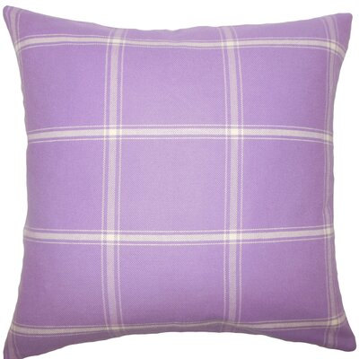 Blake Plaid Floor Pillow Color: Hyacinth
