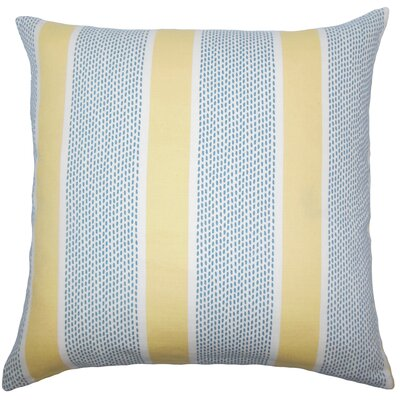Ceniceros Striped Floor Pillow Color: Lemon
