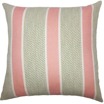Varela Striped Cotton Throw Pillow Color: Coral