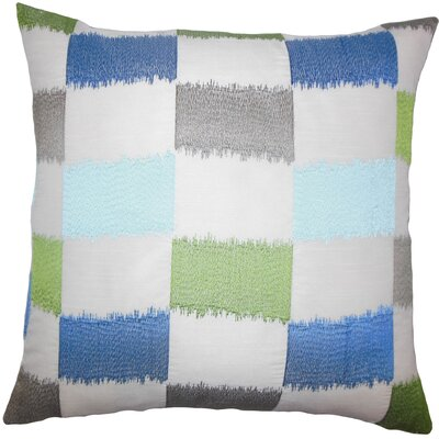 Hebb Geometric Floor Pillow Color: Blue/Green