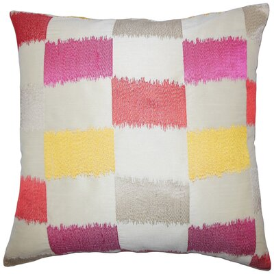 Hebb Geometric Floor Pillow Color: Flame