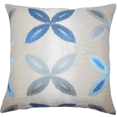 Addison Avenue Ikat Floor Pillow Color: Blue