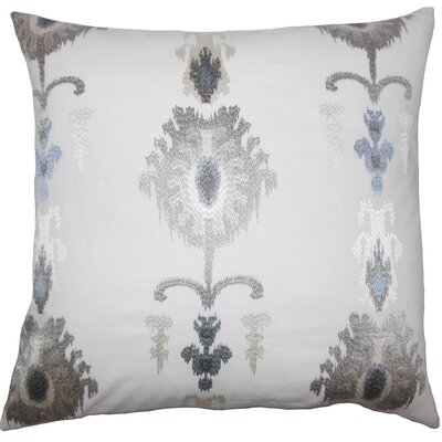 Dulce Ikat Floor Pillow Blue Color: Platinum