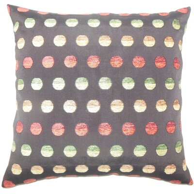 Clark Polka Dots Floor Pillow Color: Gray