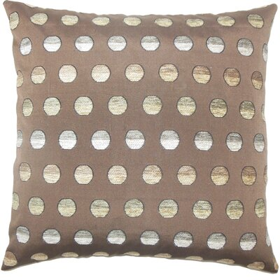 Clark Polka Dots Floor Pillow Color: Taupe