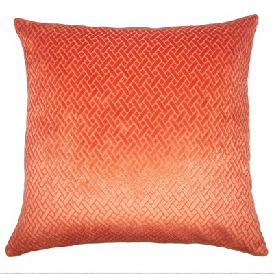 Acuna Solid Floor Pillow Color: Tangerine