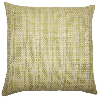 Nikki Plaid Floor Pillow Color: Leaf