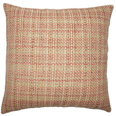 Nikki Plaid Floor Pillow Color: Russet