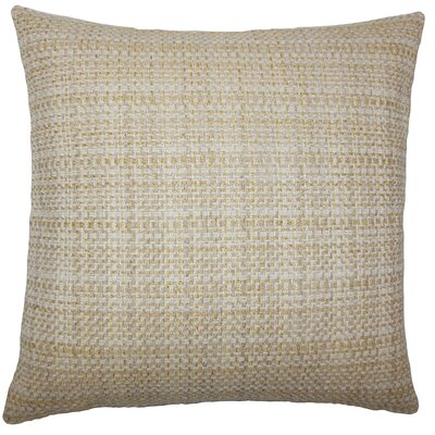 Nikki Plaid Floor Pillow Color: Wheat