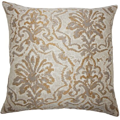 Burcott Damask Floor Pillow Color: Camel