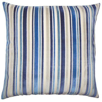 Adelia Striped Floor Pillow Color: Blue
