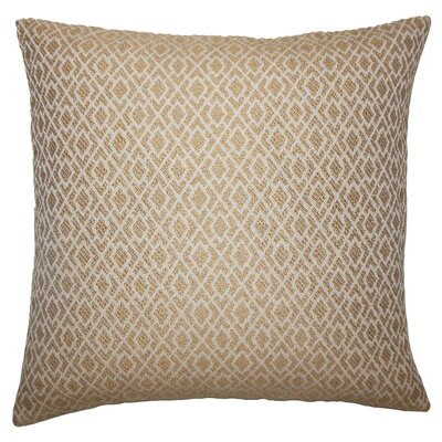 Montmorency Geometric Floor Pillow Color: Camel