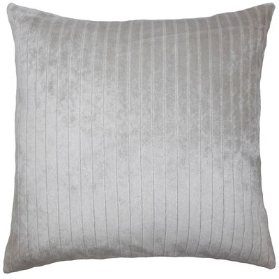 Ardley Striped Floor Pillow Color: Silver
