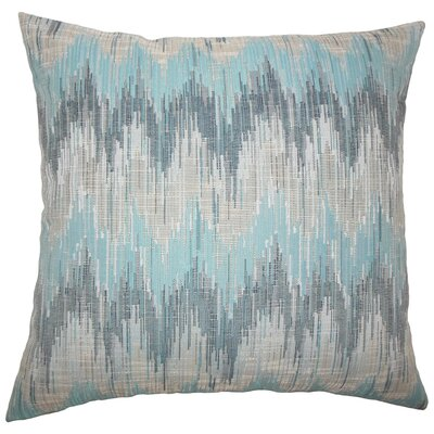 Kring Ikat Floor Pillow Color: Teal