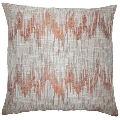 Kring Ikat Floor Pillow Color: Melon